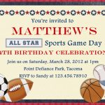 Free Printable Sports Birthday Invitations | Showers And Parties | Printable Sports Birthday Cards