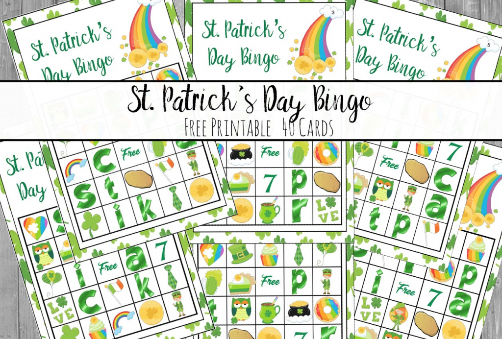 Free Printable St. Patrick's Day Bingo: 40 Cards | Free Printable St Patrick's Day Card
