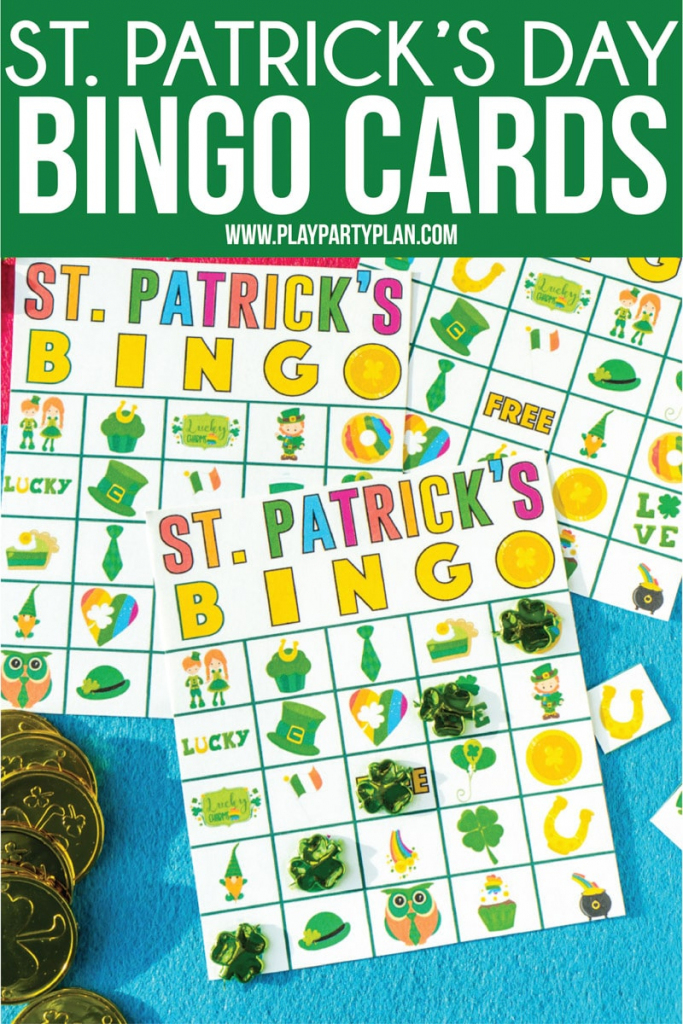 Free Printable St. Patrick's Day Bingo Cards - Play Party Plan | Free Printable St Patrick's Day Card