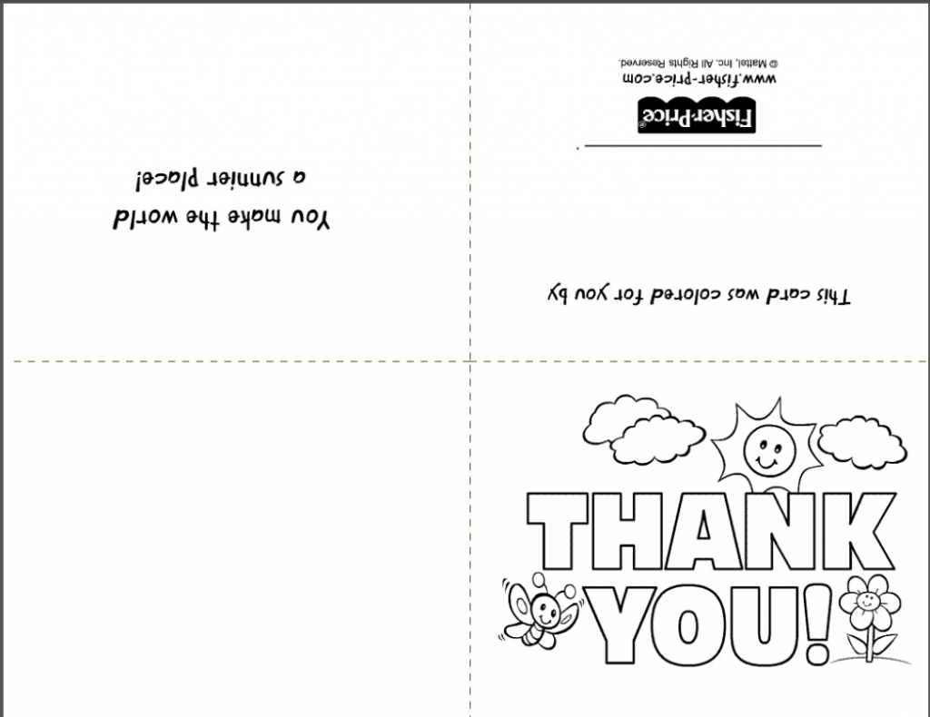Free Printable Stationery- Websites For Downloading Nice Free Stationery | Printable Thank You Cards To Color