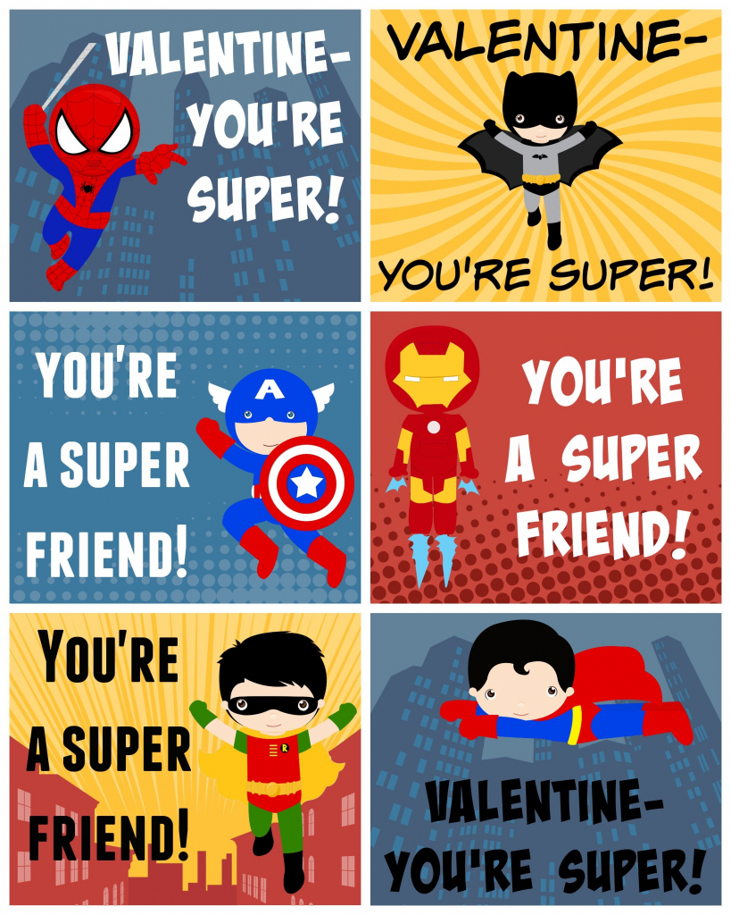 Free Printable Superhero Valentines | Bloggers' Best Diy Ideas | Free Printable Superman Valentine Cards