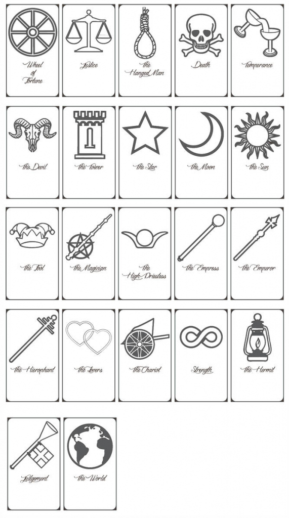 Free Printable Tarot Cards!keniakittykat On Deviantart | Printable Tarot Cards To Color