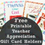 Free Printable Teacher Appreciation Gift Card Holders | Teacher Appreciation Gift Card Holder Printable