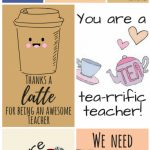 Free Printable Teacher Appreciation Thank You Cards | ✽ Back To | Free Printable Teacher's Day Greeting Cards