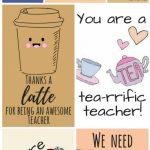 Free Printable Teacher Appreciation Thank You Cards | Teacher Gift | Printable Teacher Appreciation Cards