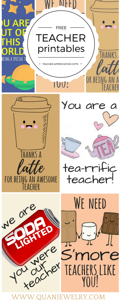 Free Printable Teacher Appreciation Thank You Cards | Teacher Gift | Printable Teacher Appreciation Cards
