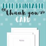 Free Printable Thank You Card   National Employee Appreciation Day | Printable Thank You Cards For Employees