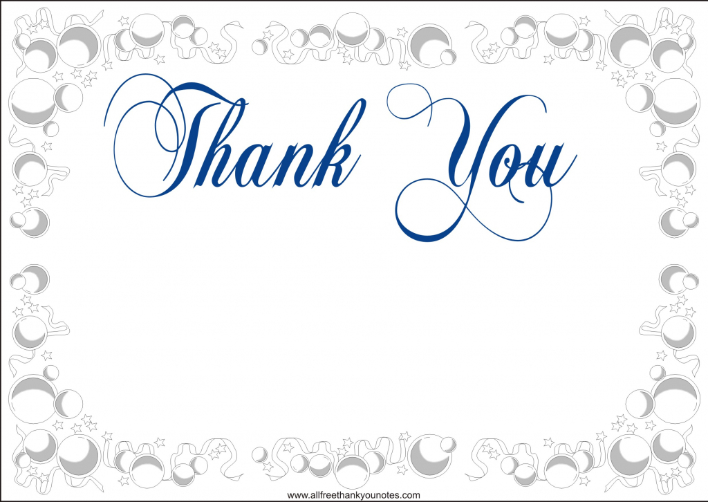 Free Printable Thank You Card Template - Under.bergdorfbib.co   Thank You Card Free Printable Template