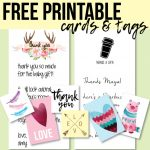 Free Printable Thank You Cards And Tags For Favors And Gifts! | Free Personalized Thank You Cards Printable
