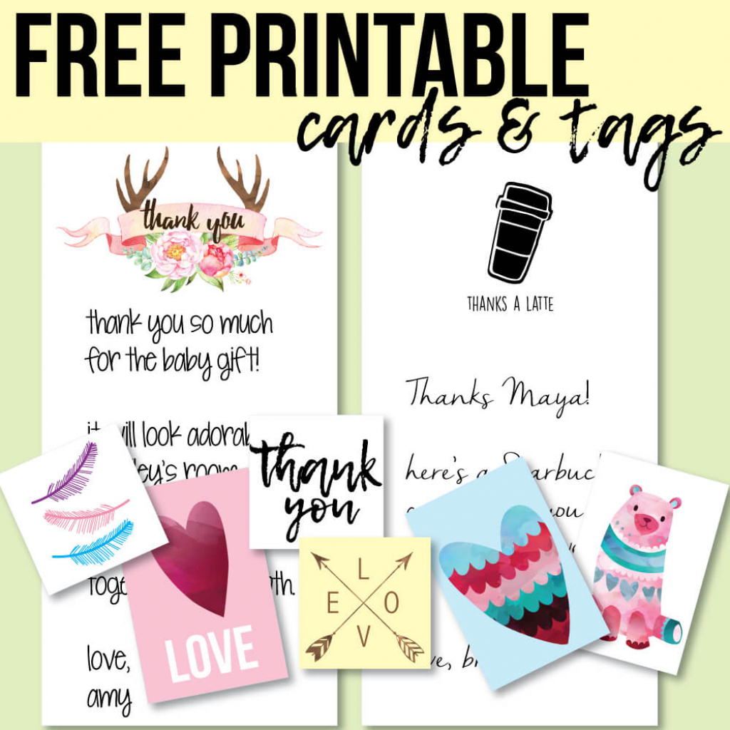 Free Printable Thank You Cards And Tags For Favors And Gifts! | Free Printable Picture Cards
