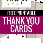 Free Printable Thank You Cards | Freebies | Printable Thank You | Free Personalized Thank You Cards Printable