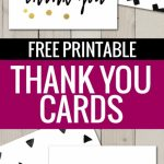 Free Printable Thank You Cards | Freebies | Printable Thank You | Free Printable Business Card Templates For Teachers