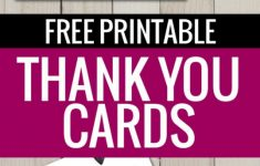 Free Printable Custom Thank You Cards