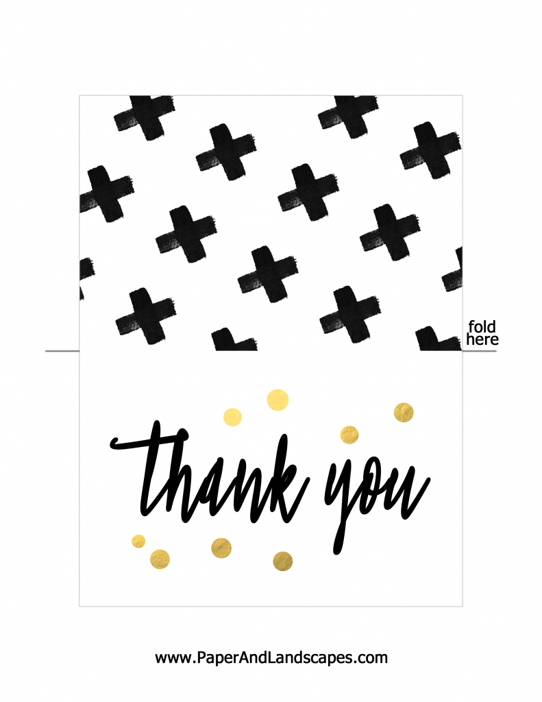 Free Printable Thank You Cards - Paper And Landscapes | Free Printable Custom Thank You Cards