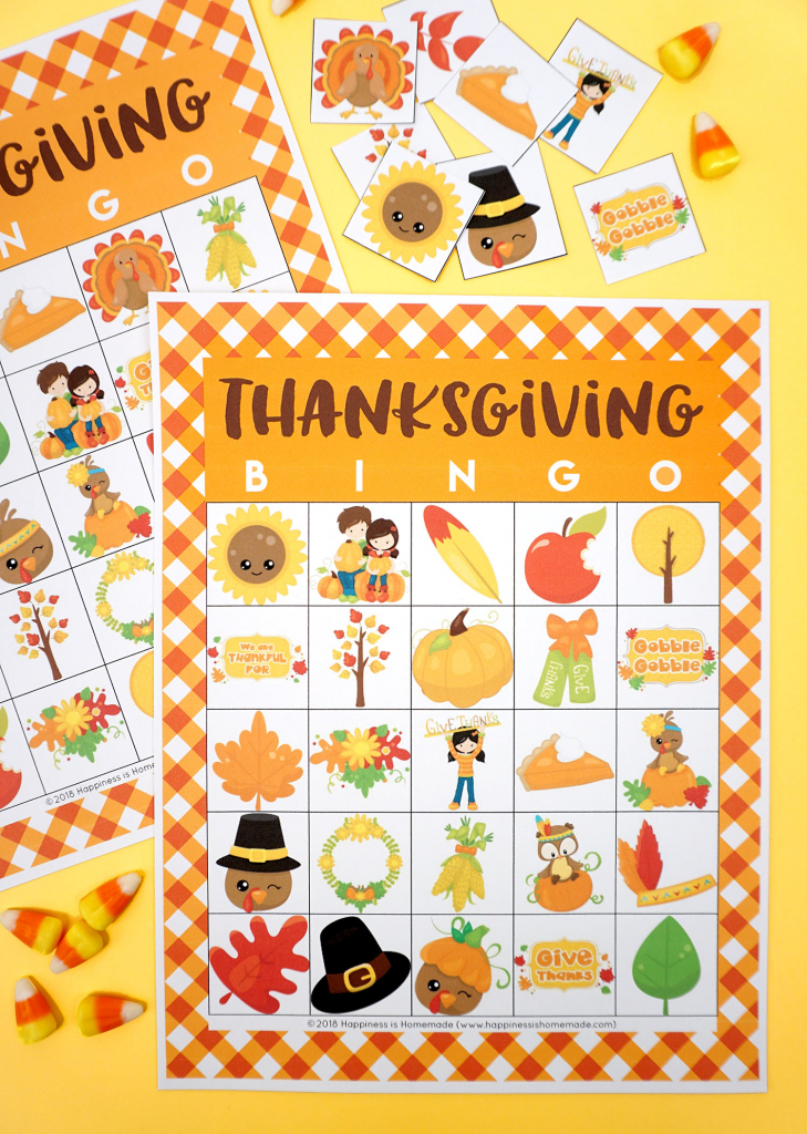 Free Printable Thanksgiving Bingo Cards - Happiness Is Homemade | Turkey Bingo Cards Printable