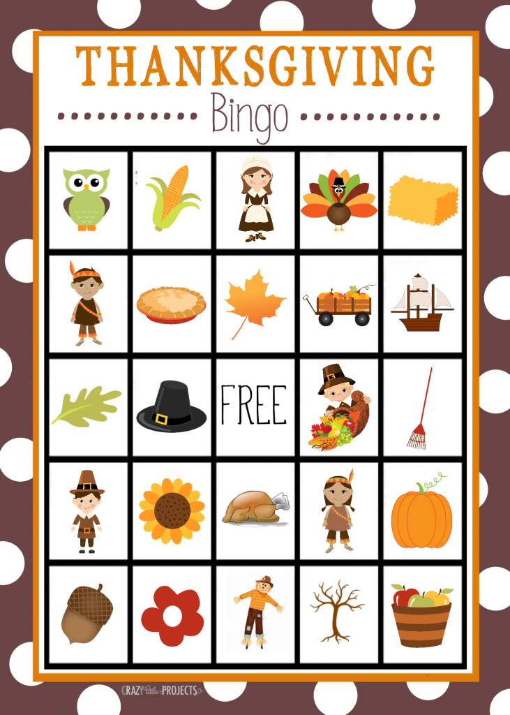 Free Printable Thanksgiving Bingo Game | Craft Time | Christmas | Thanksgiving Cards For Kids Printable