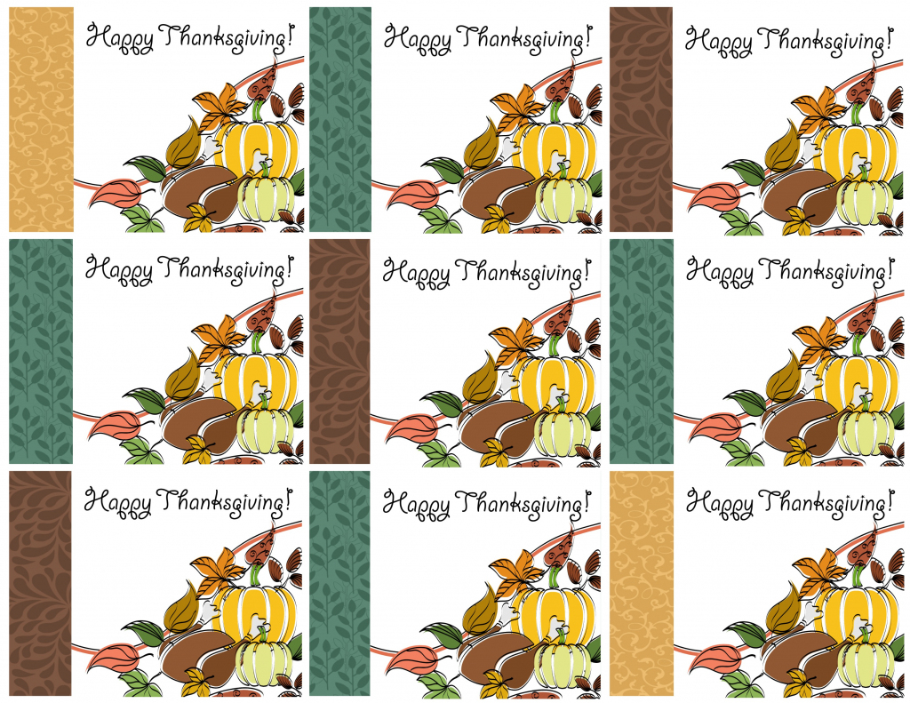 Free Printable Thanksgiving Place Cards -- Also Great For Cupcake | Free Printable Halloween Place Cards