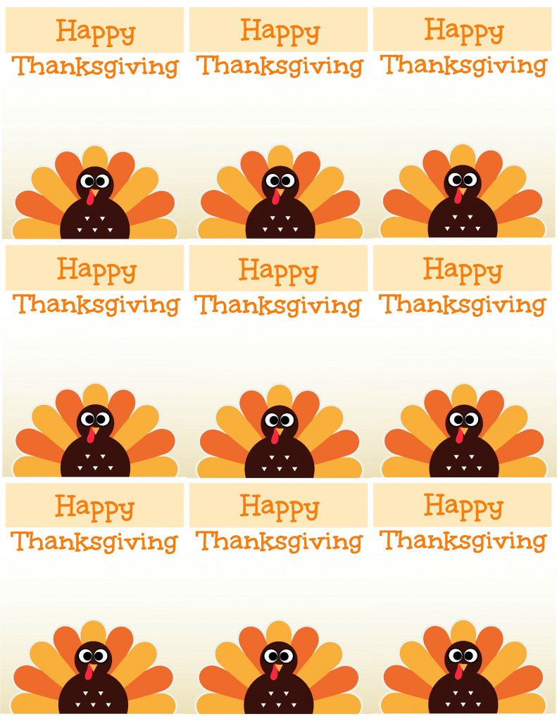 Free Printable Thanksgiving Place Cards -- Also Great For Cupcake | Free Printable Thanksgiving Place Cards