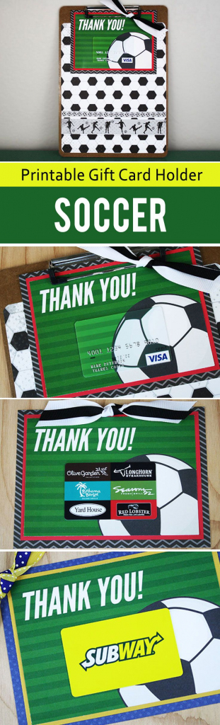 Free Printable} This Soccer Gift For Coach Is A Kick! | Thank You | Free Printable Soccer Thank You Cards