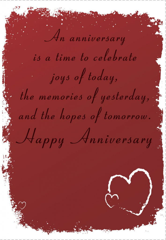 Free Printable 'time To Celebrate' Anniversary Greeting Card | Anniversary Cards Printable For Parents