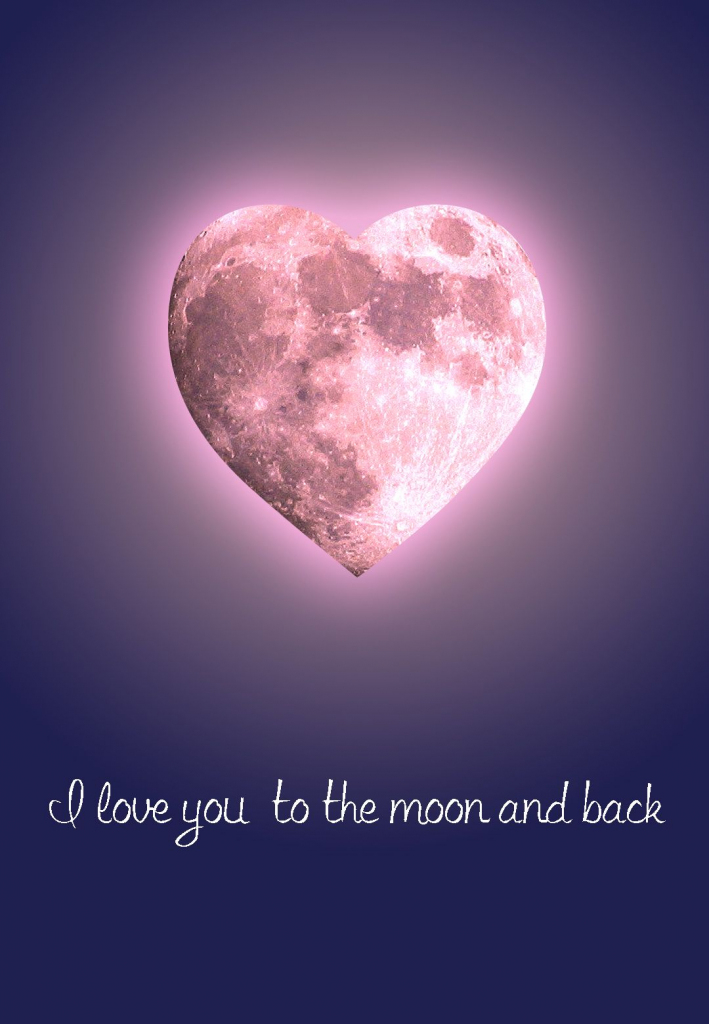 Free #printable 'to The Moon And Back' #love Greeting Card | Free | Free Printable Love Greeting Cards