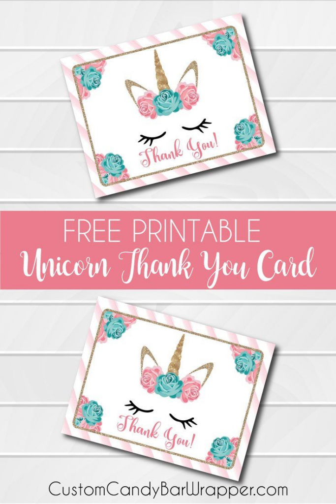 Free Printable Unicorn Thank You Cards In 2019 | Addie's Wishes | Free Printable Mermaid Thank You Cards