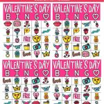 Free Printable Valentine Bingo Cards For All Ages   Play Party Plan   Printable Valentine Bingo Cards With Numbers