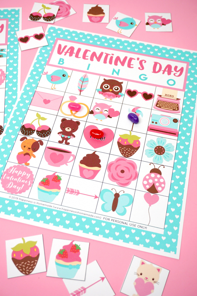 Free Printable Valentine Bingo - Happiness Is Homemade | Printable Mothers Day Bingo Cards