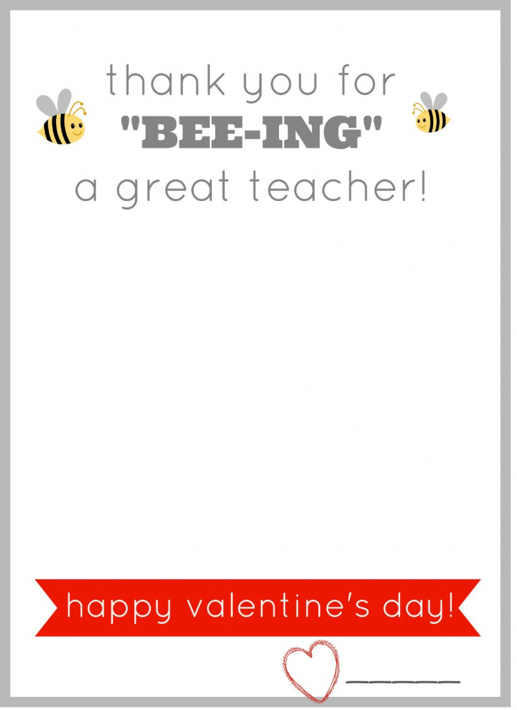 Free Printable Valentine Card For Teachers. Give Them A Burt's Bees | Printable Valentine Cards For Teachers