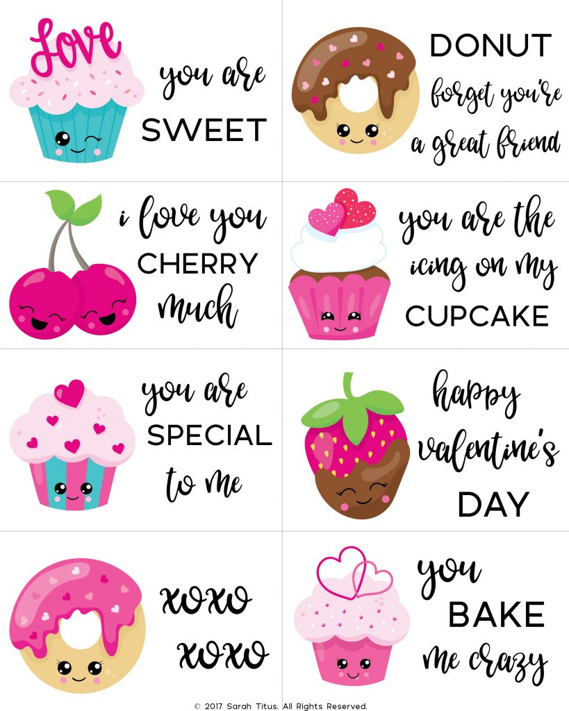 Free Printable Valentine Cards For Kids - Sarah Titus | Valentine Free Printable Cards