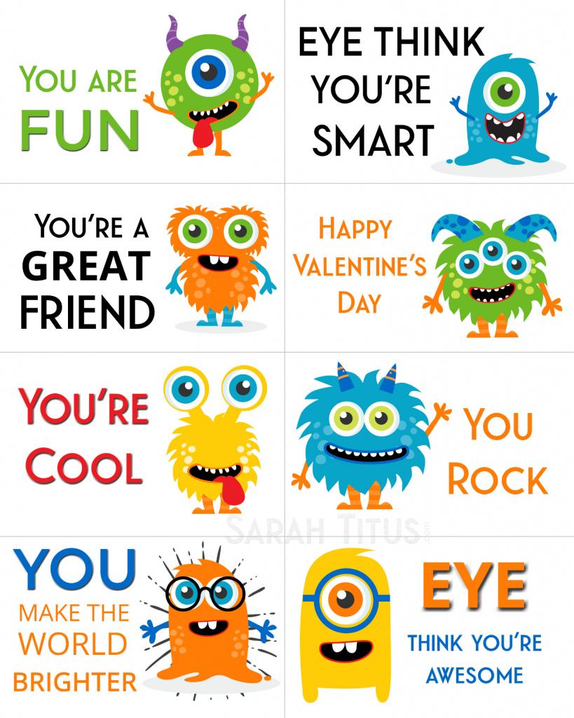 Free Printable Valentine Cards - Sarah Titus | Free Printable Valentine Cards For Kids