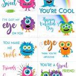 Free Printable Valentine Cards   Sarah Titus | Printable Valentine Cards For Kids