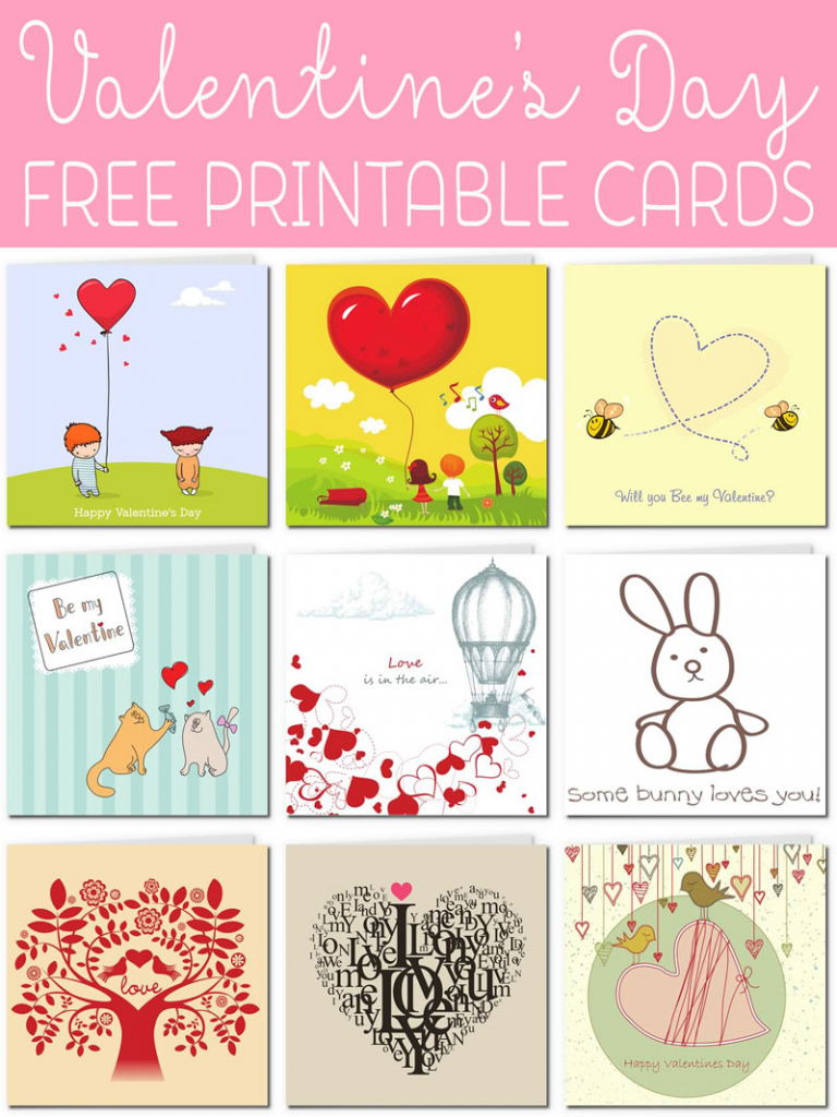 Free Printable Valentine Cards | Valentine Free Printable Cards
