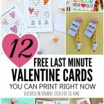 Free Printable Valentines: 12 Last Minute Cards You Can Print Now | Free Printable School Valentines Cards