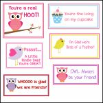 Free Printable Valentine's Cards (A Lot Of Them | Diy Owl Printabes | Printable Valentine Cards For Kids