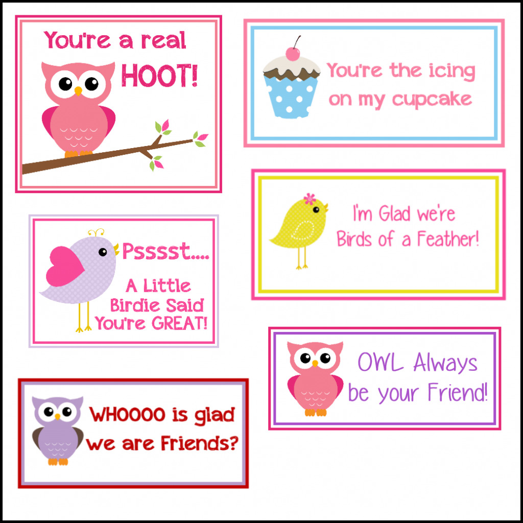 Free Printable Valentine's Cards (A Lot Of Them | Diy-Owl Printabes | Printable Valentine Cards For Kids