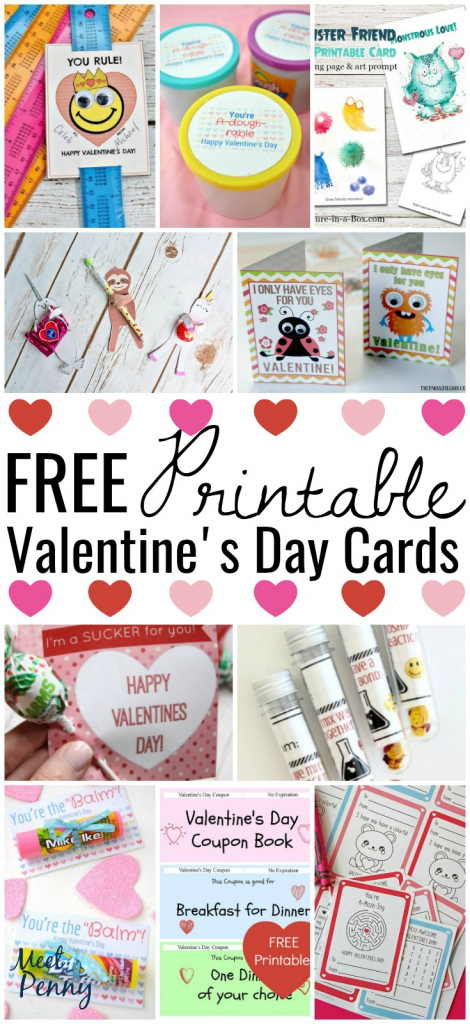 Free Printable Valentines Cards - Meet Penny | Free Printable School Valentines Cards