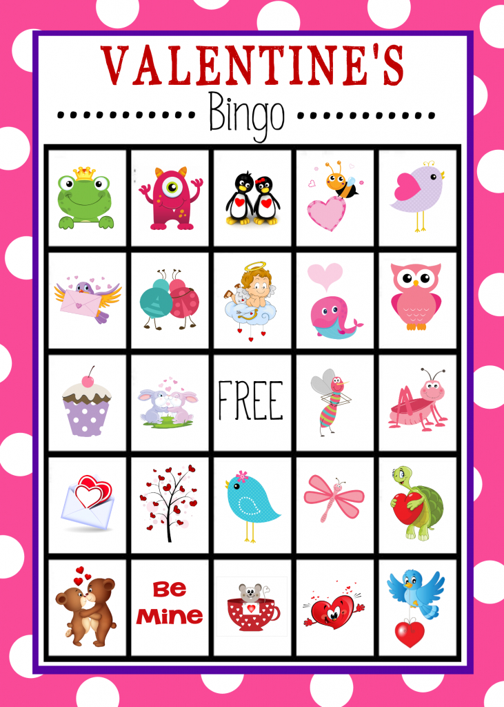 Free Printable Valentine's Day Bingo Game | Valentine's Day | Printable Valentine Bingo Cards With Numbers