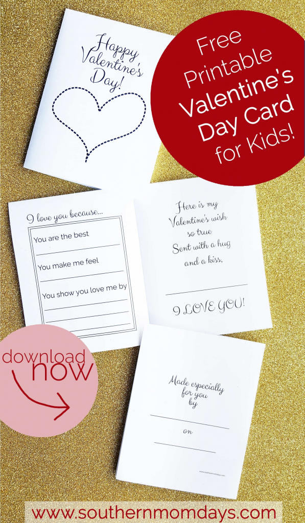 Free Printable: Valentine's Day Card For Kids | Valentine's Day | Free Printable Valentines Day Cards For Mom And Dad