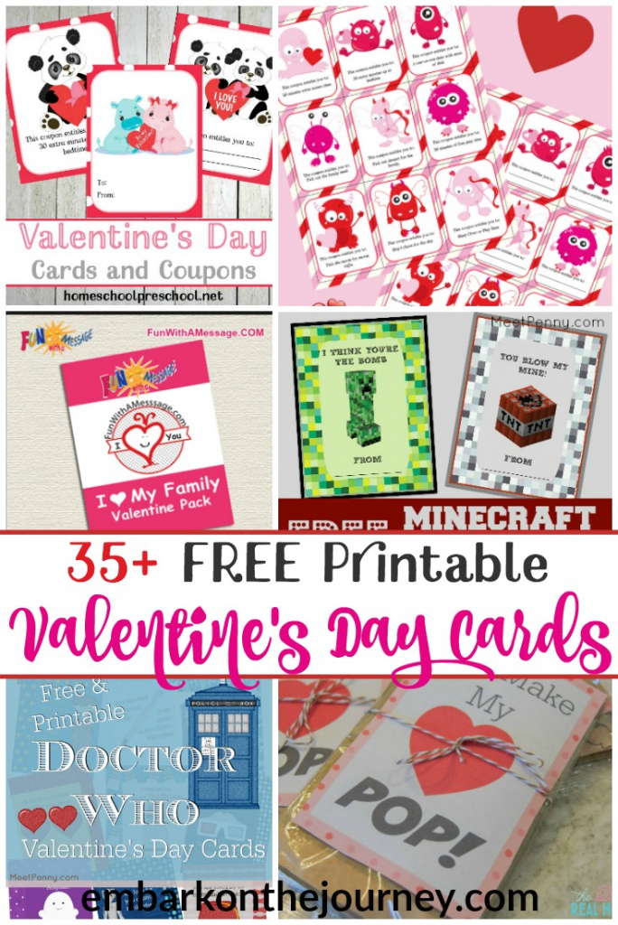 Free Printable Valentines Day Cards For Kids | Doctor Who Valentine Cards Printable
