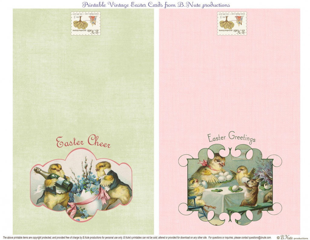 Free Printable Vintage Easter Folded Cards. I Finally Found These | Printable Easter Greeting Cards Free