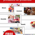 Free Printable Visual Schedule For Preschool   No Time For Flash Cards | Free Printable Schedule Cards For Preschool