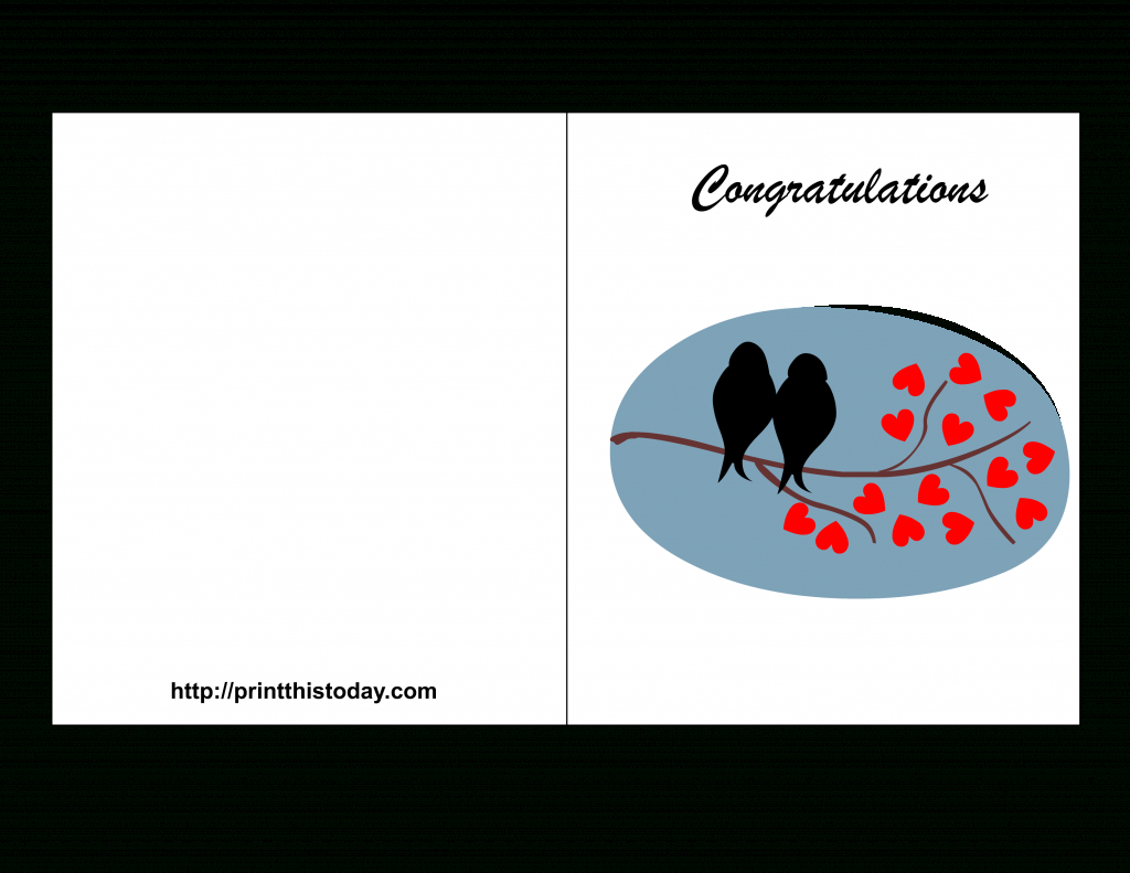 Free Printable Wedding Congratulations Cards | Free Printable Congratulations Baby Cards
