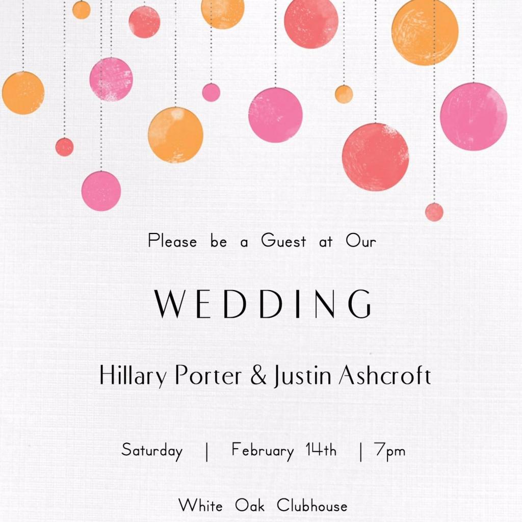 Free Printable Wedding Invitations | Popsugar Smart Living | Printable Wedding Invitation Card Sample