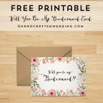 Free Printable Will You Be My Bridesmaid Card | | Freebies | Cards Sign Free Printable