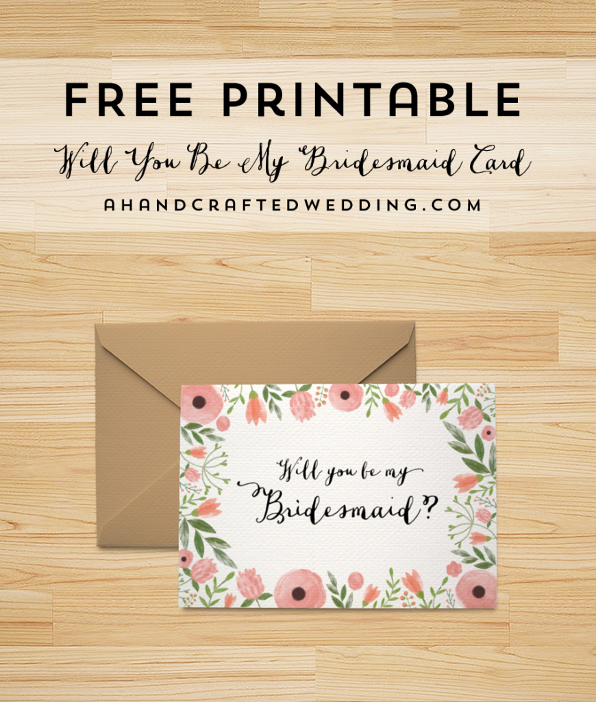 Free Printable Will You Be My Bridesmaid Card | | Freebies | Free Printable Will You Be My Bridesmaid Cards