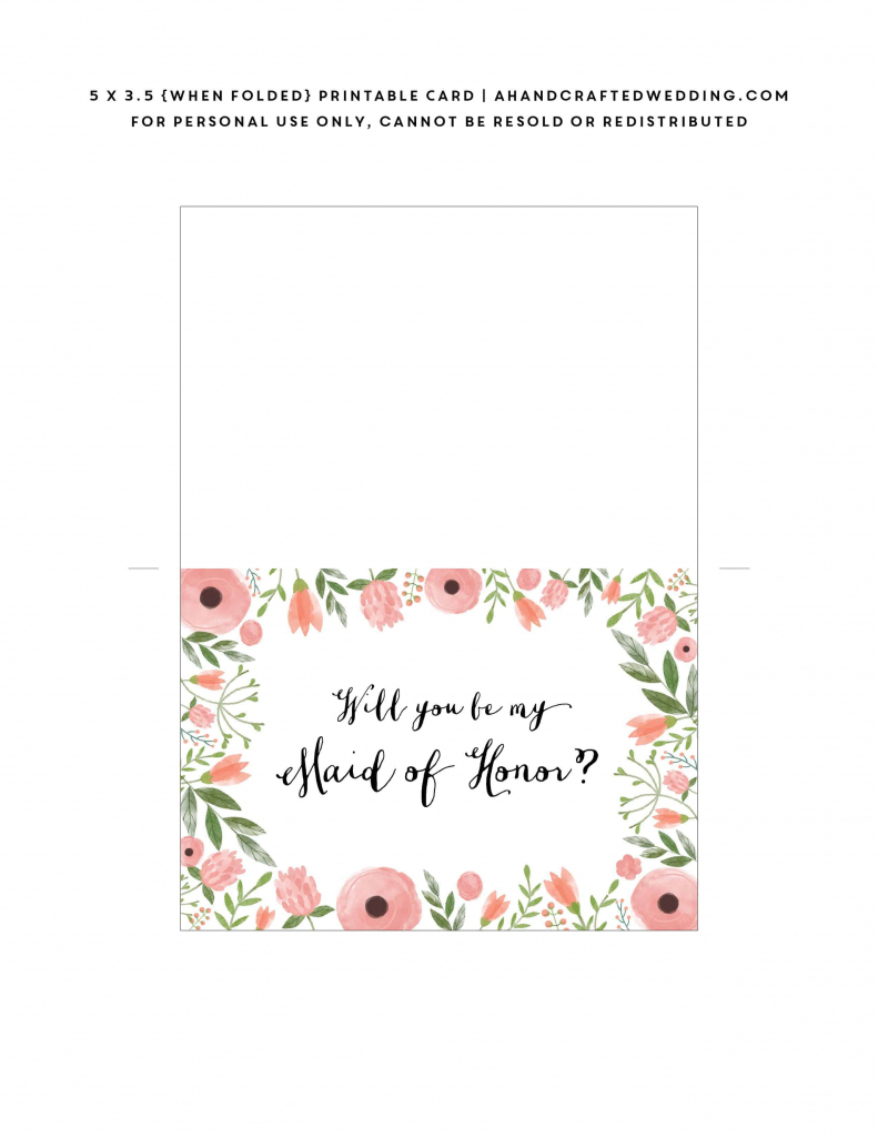 Free Printable Will You Be My Bridesmaid Card | Mountain Modern Life | Free Printable Will You Be My Bridesmaid Cards