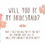 Free Printable Will You Be My Bridesmaid Cards | Free Printables | Free Printable Will You Be My Bridesmaid Cards