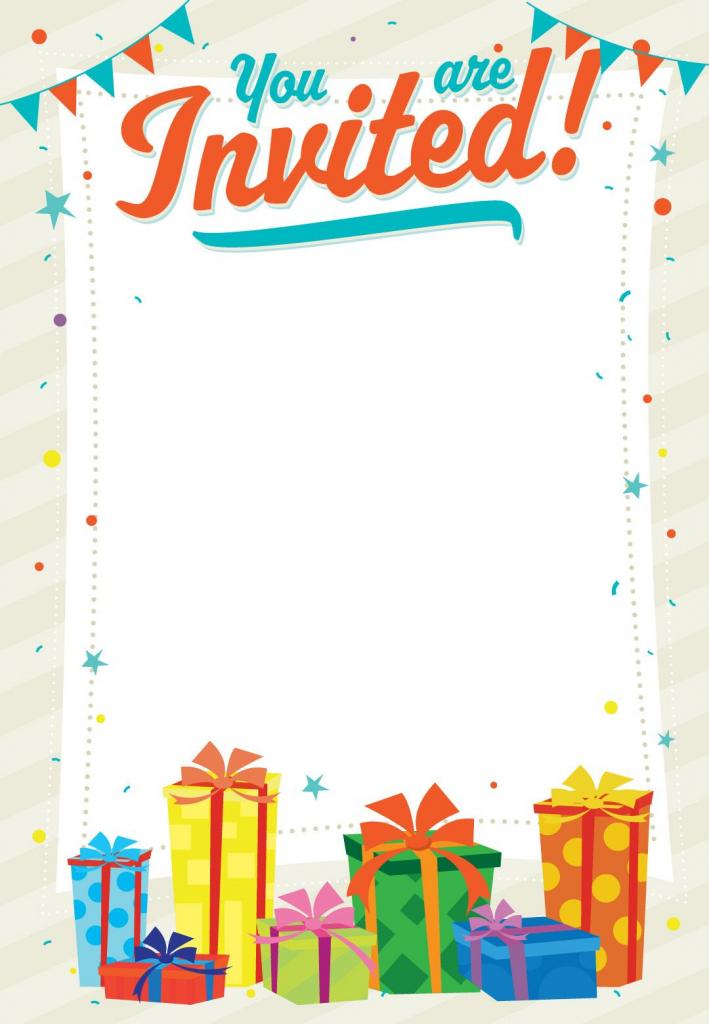 Free Printable You Are Invited Invitation   Printables & Fonts   Free Printable Birthday Invitation Cards Templates