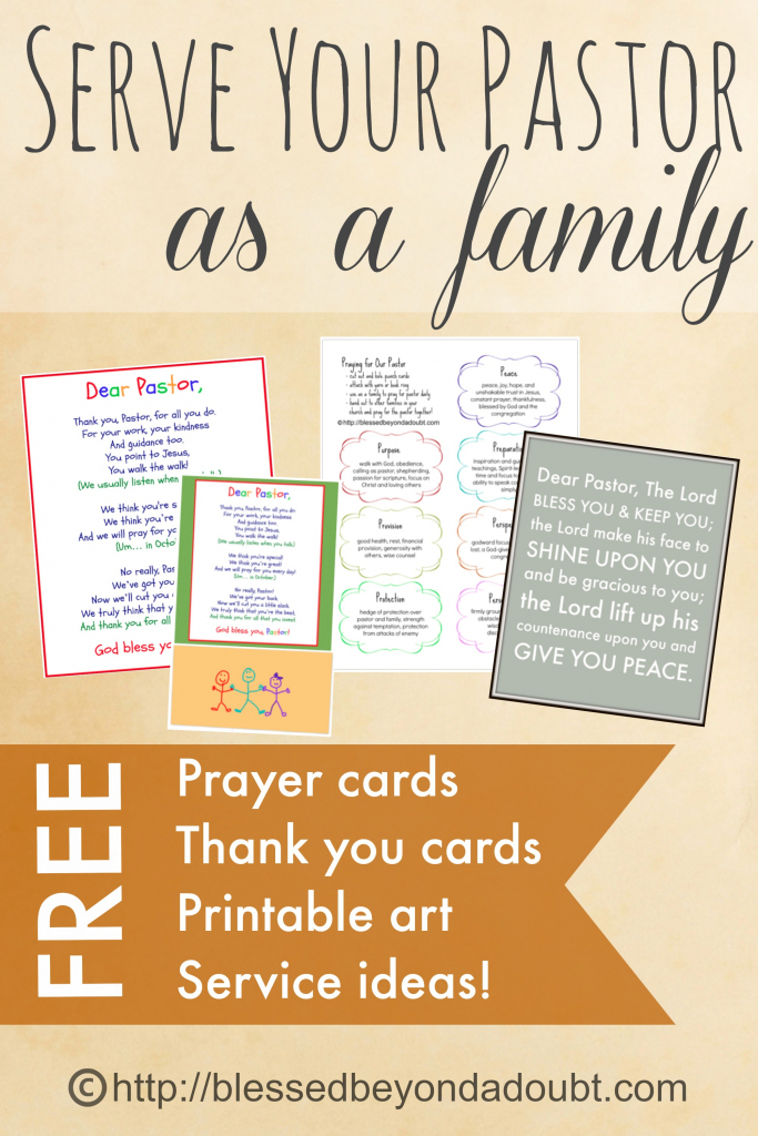 Free Printables And Fun Ideas For Serving Your Pastor | Pastor Appreciation Cards Free Printable